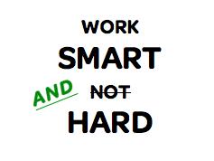 Hard Work Vs. Smart Work 2